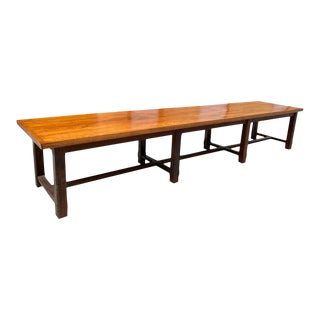 19th Century French Louis Philippe Period Chateau Monastery Table or Farm Table For Sale