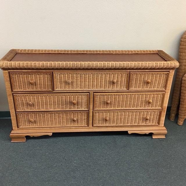 Seven Drawer Wicker Dresser - Image 2 of 6
