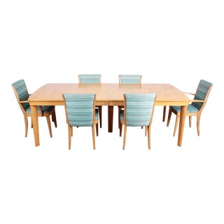 Heywood Wakefield Mid-Century Modern Solid Maple Dining Set, 1950s - Set of 7 For Sale