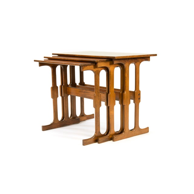 Cfc Silkeborg Rosewood Nesting Tables From Denmark - Set of 3 For Sale In Phoenix - Image 6 of 10