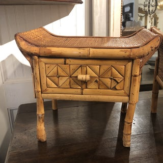 Bamboo and Rattan Pagoda Stools - a Pair Preview