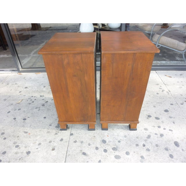 Italian Walnut Nightstands - A Pair - Image 2 of 4