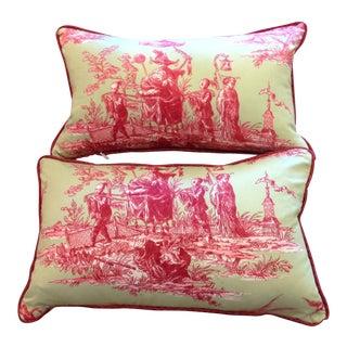 Schumacher Toile Lumbar Pillows - a Pair