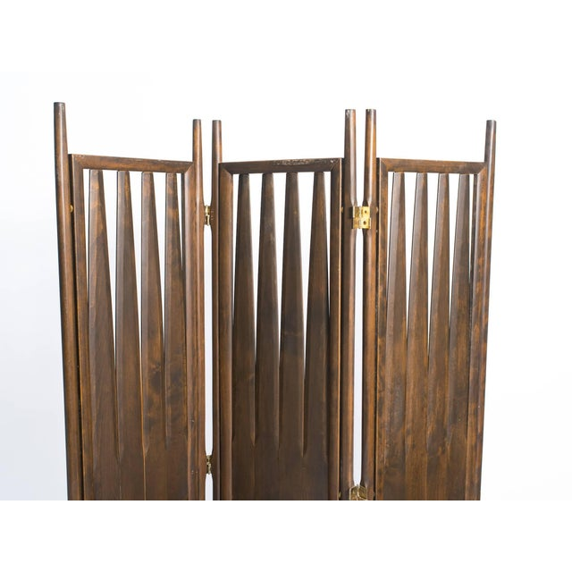 Wood Midcentury Walnut Screen For Sale - Image 7 of 8