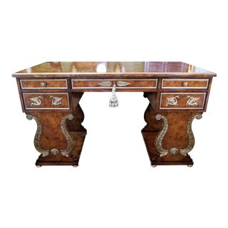 Tsar Desk Replica by Theodore Alexander For Sale