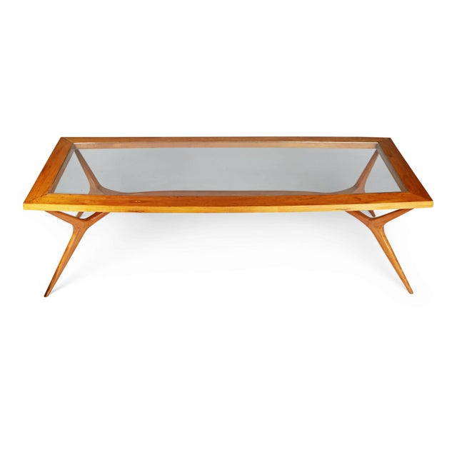 1950s Vintage Giuseppe Scapinelli Brazilian Sculptural Dining Table For Sale - Image 10 of 11