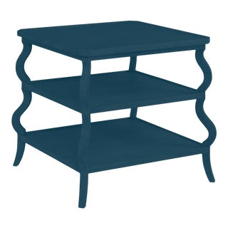 Abbott Tiered Side Table, Gentleman's Gray For Sale