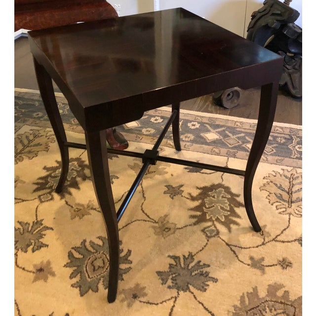 Art Deco Witford J. Alexander Art Deco Modern Designer Macassar Ebony End Table For Sale - Image 3 of 3