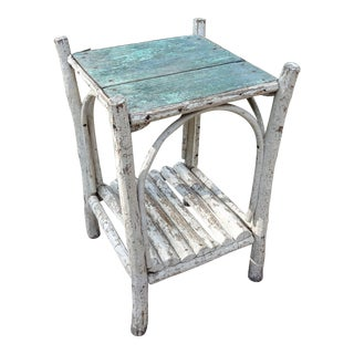 Early 20th Century Rustic Adirondack Side Table For Sale