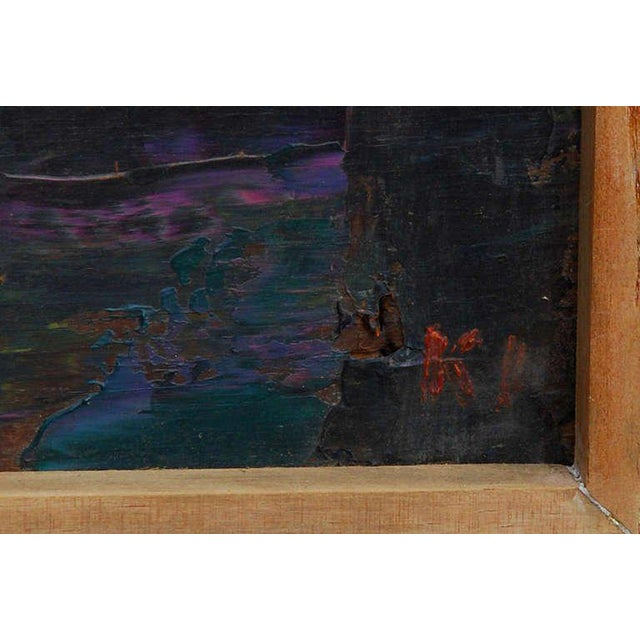 1960s Abstract Oil in Board For Sale - Image 5 of 5
