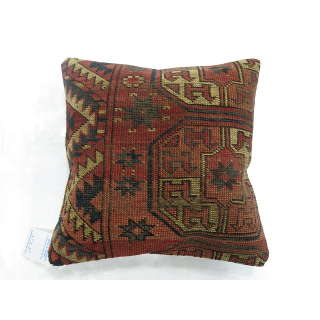 Shabby Chic Turkeman Rug Pillow For Sale - Image 3 of 3