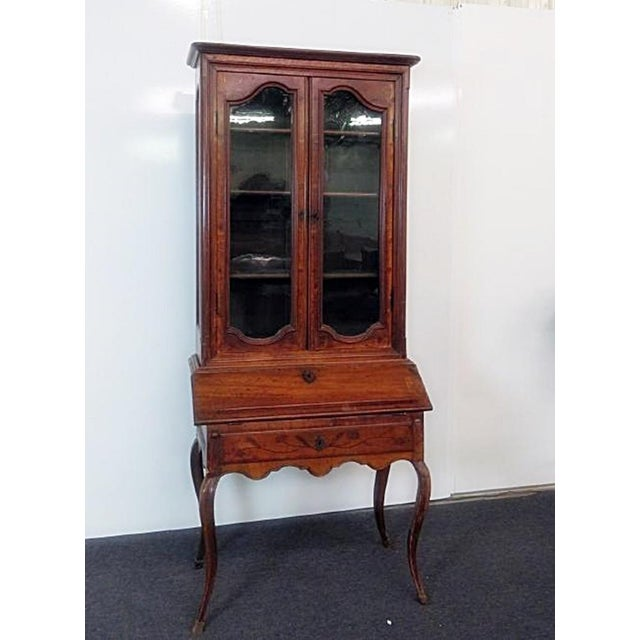 18th C. Louis XVI Style French Inlaid Secretary Desk For Sale - Image 10 of 10
