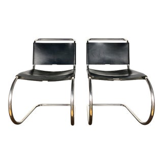 Mies Van Der Rohe Cantilever Chairs for Knoll Associates- A Pair For Sale