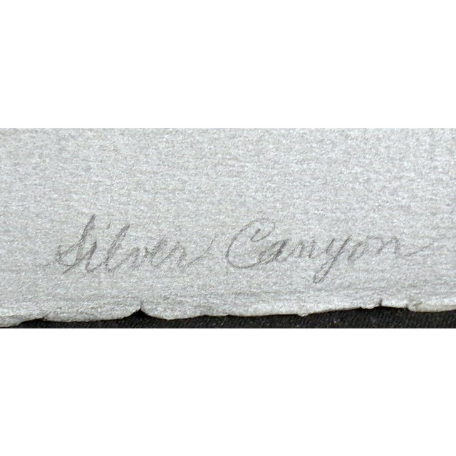 "Clare Romano ""Silver Canyon"" Hand Signed Limited Edition Print For Sale - Image 4 of 6"