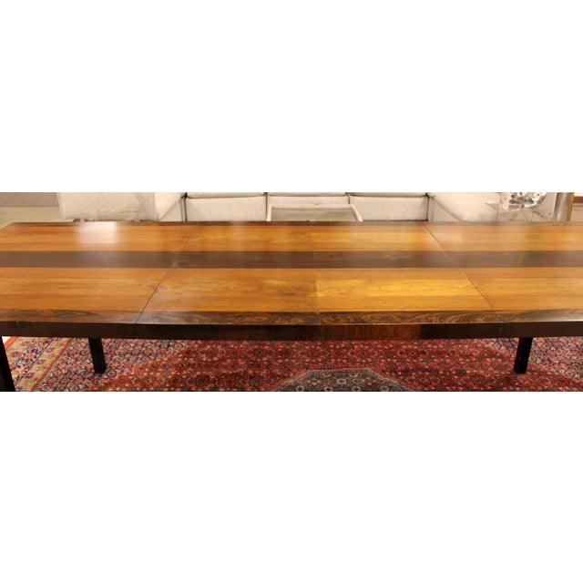 Rosewood 1960s Mid-Century Modern Milo Baughman for Directional Walnut Rosewood Dining Table For Sale - Image 7 of 10