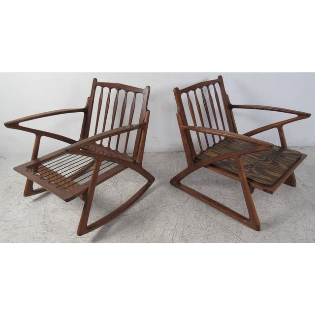 Poul Jensen Poul Jensen Z Style Sculpted Lounge Chairs - a Pair For Sale - Image 4 of 8