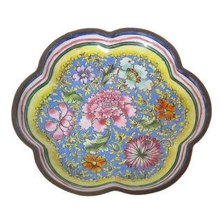 1940s Chinese Enamel Tray For Sale