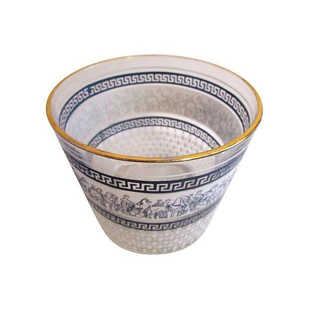 Midcentury Grecian Ice Bucket & Glasses - Set of 4 - Image 2 of 6