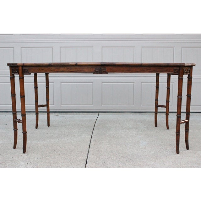 Century Furniture Century Furniture Faux Bamboo Dining Set For Sale - Image 4 of 13