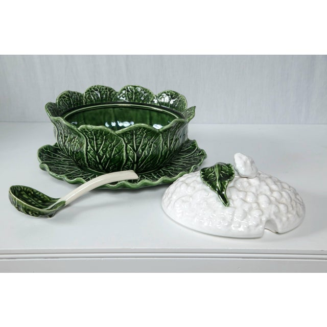 Portuguese Cauliflower Tureen 4 Pc. Set For Sale In New York - Image 6 of 6