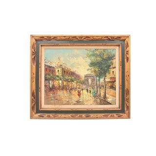 1940s Mary Botto French Impressionistic Painting For Sale