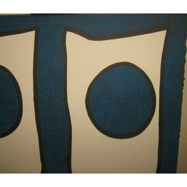 Blue 1967 Abstract Silkscreen by Michael Knigin For Sale - Image 8 of 12
