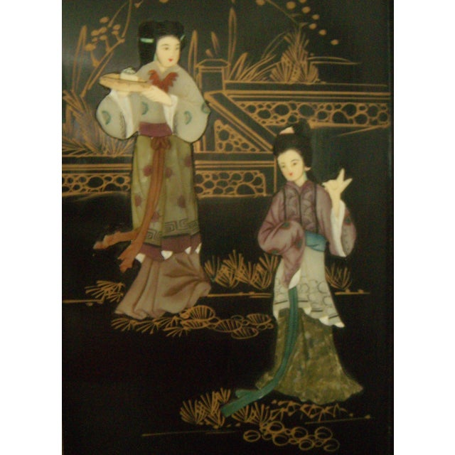 """""""Courtesans in the Garden"""" Wall Hangings (Four) - Image 4 of 8"""