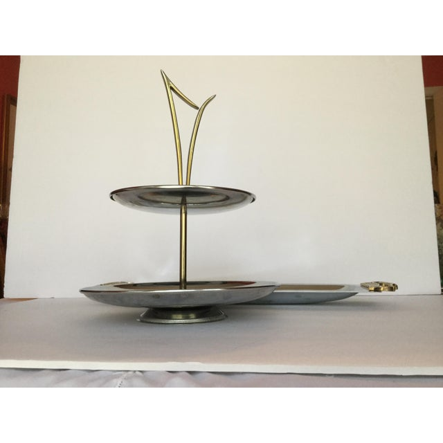 1960s Space Age Brass Serving Trays - Set of 2 For Sale In Birmingham - Image 6 of 13