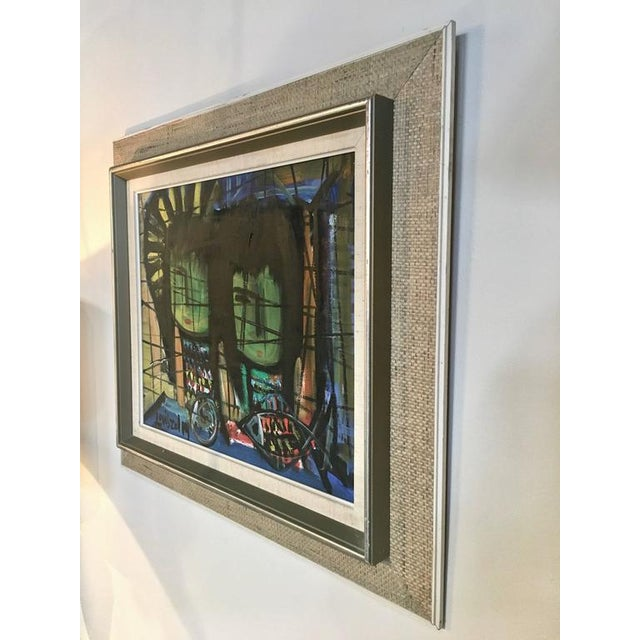Oil Paint Loius Zelig Mid-Century Modern Painting For Sale - Image 7 of 10