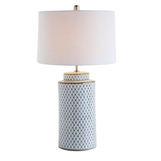 Ceramic Table Lamp With Shade For Sale
