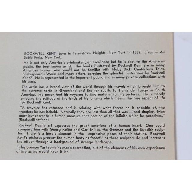 "Art Deco 1939 Rockwell Kent ""Flame"" Original Block Print Calendar For Sale - Image 9 of 11"