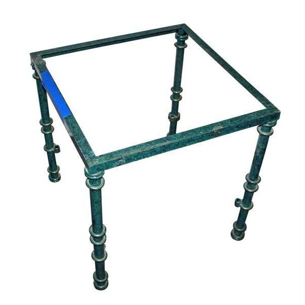 Green Metal Table Base For Sale - Image 4 of 4