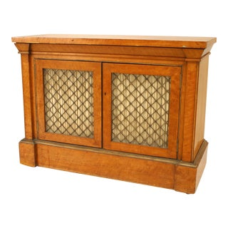 English Regency Satinwood Side Cabinets For Sale
