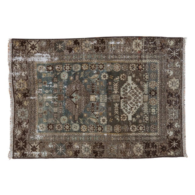 """Vintage Distressed Malayer Rug - 3'3"""" X 4'7"""" For Sale - Image 11 of 11"""