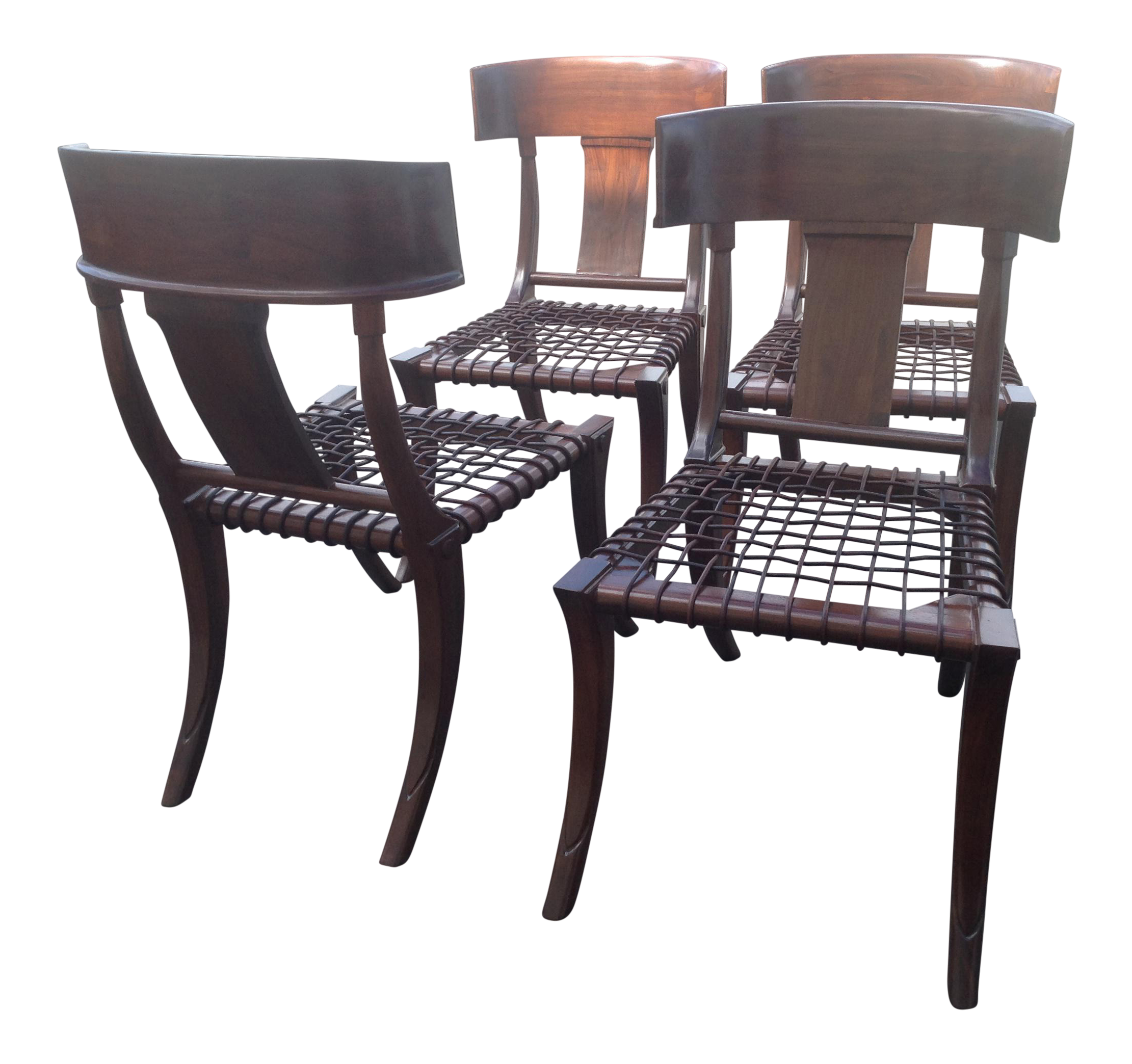 Vintage furniture images Rustic Modern Mid Century Klismos Style Walnut Dining Chairs set Of Royal Design Studio Stencils Vintage Used Furniture For Sale Chairish