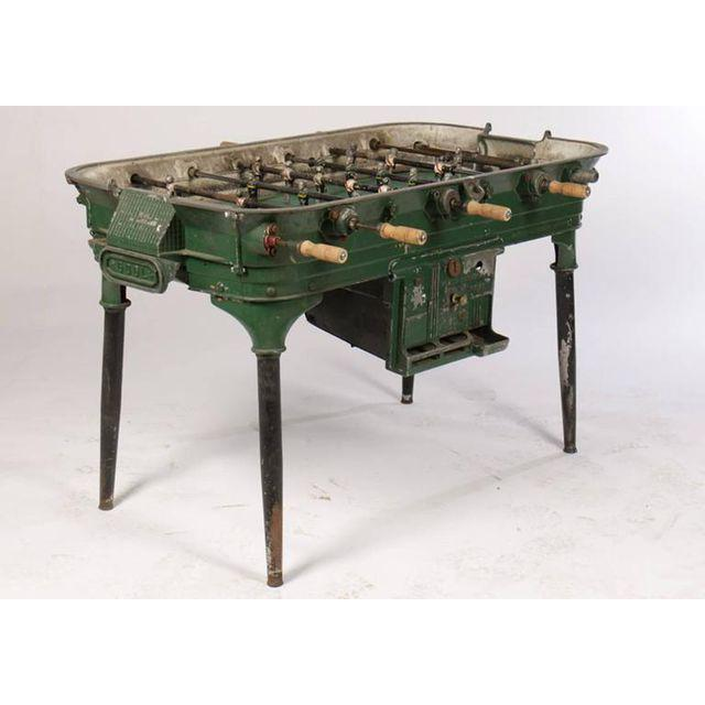 Foosball started as a parlor game in the 1800's in Europe. Today, these vintage tables can be used as decorative pieces...