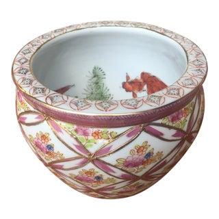 Chinese Porcelain Fish Bowl Planter For Sale