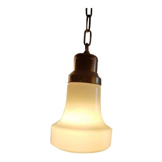 Antique Schoolhouse Pendant Light For Sale