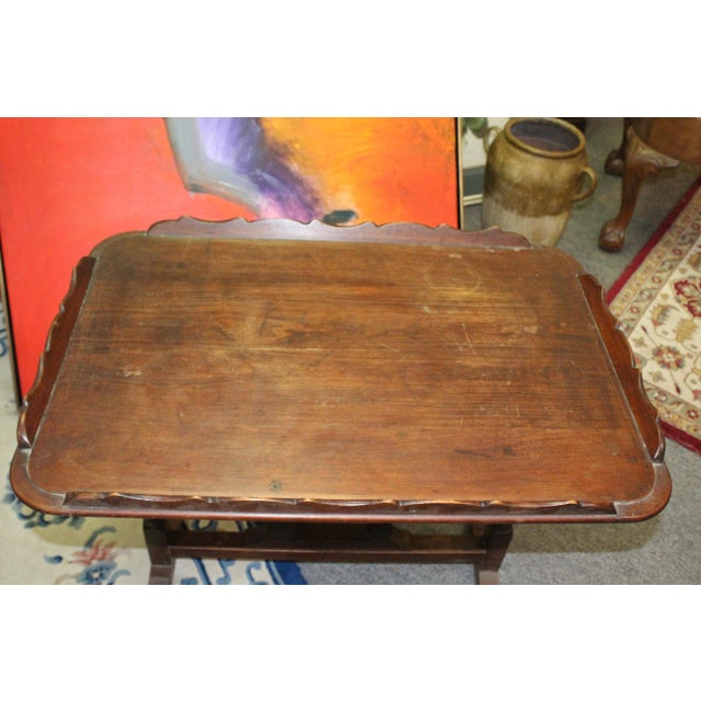 Americana 19th Century Art Nouveau Folding Tray Table For Sale - Image 3 of 6