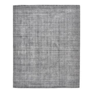 Ashton, Contemporary Modern Hand Loom Area Rug, Dark Gray, 9 X 12 For Sale