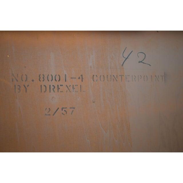 Drexel Counterpoint John Van Koert Mid Century Modern Tambour Door Hutch Top Sideboard, Bookcase For Sale In Philadelphia - Image 6 of 13