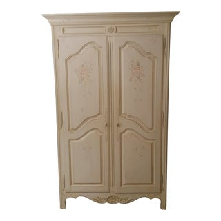Ethan Allen French Country Hand-Painted Armoire