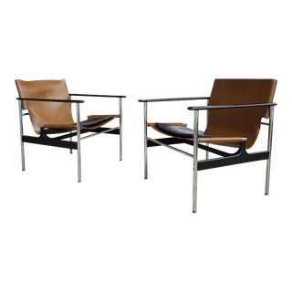 Charles Pollock for Knoll Model 657 Sling Chairs, 1971 For Sale