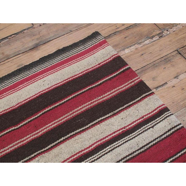 Large Kilim with Vertical Bands For Sale In New York - Image 6 of 6