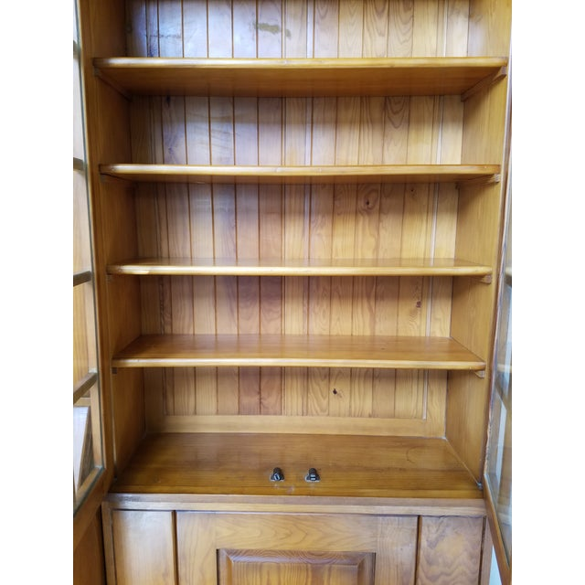1930s French Country Maple Storage Bookcases And Desk