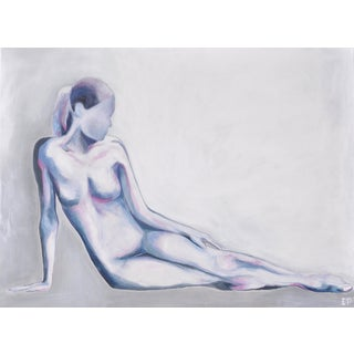 Contemporary Indigo Nude Painting For Sale