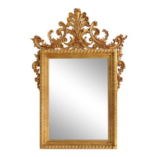 La Barge Italian Giltwood Carved Mirror For Sale