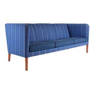 Vintage Even Arm Danish Modern Sofa by Hans Wegner For Sale