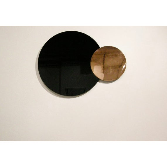 Nina Cho Circle Constructivist Mirror by Nina Cho For Sale - Image 4 of 4