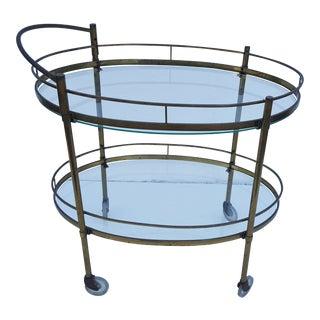 Maxwell Phillips Solid Brass Server / Bar Cart .